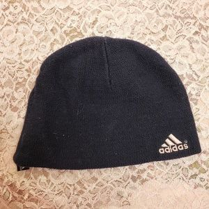 Adidas navy and pink hat